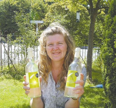 Lucy Rollett of Nurses Cottage, Little Comberton, and her award-winning drinks.