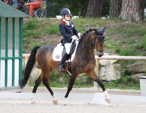 INSPIRED: Phoebe Peters and her pony SL Lucci at this year's European Championships. Picture: CAMILLE PETERS.