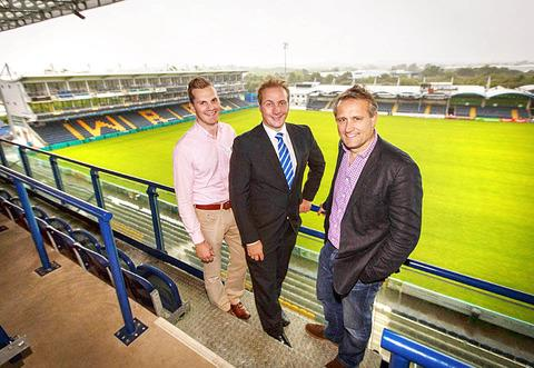 RECRUITING: Adam Laidler and Marc Bayliss with Postcode Anywhere's Guy Mucklow.