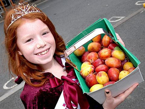 YUMMY: Festival princess Alicia Mardle, aged eight