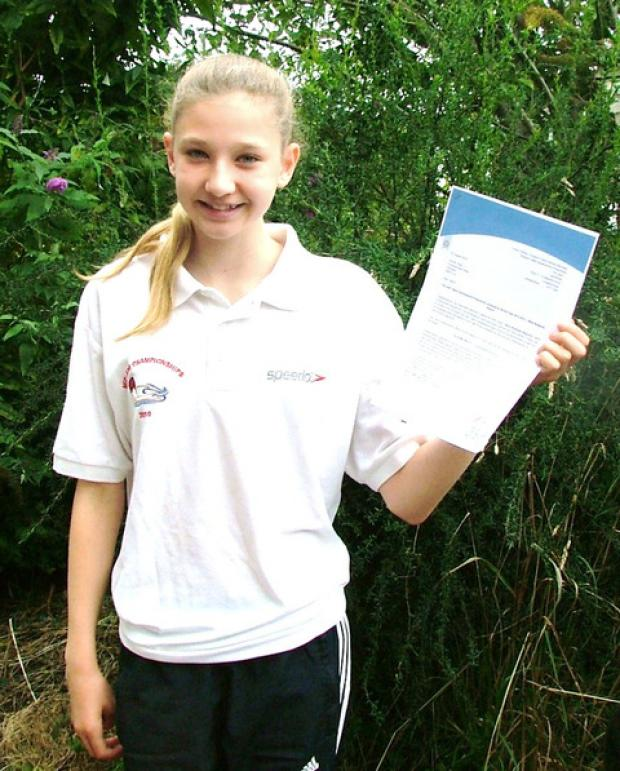 NATIONAL SPOTLIGHT: Pershore Swimming Club's Tazmin Pugh has been invited to join the England Talent Development Programme. Her call-up comes after fine performances in last month's National Age Group Championships.