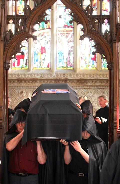 The re-enactment of the 1548 funeral of Katherine Parr.