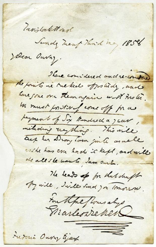 PUZZLE: The letter written by Dickens.