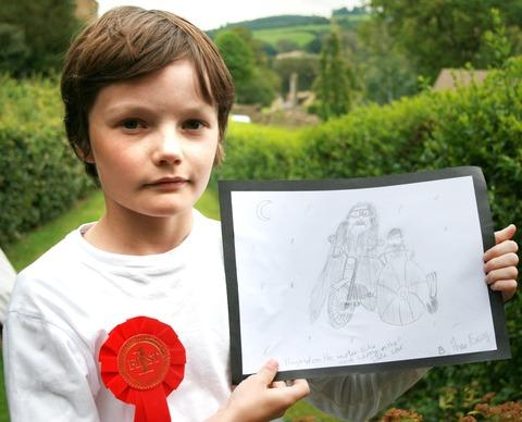 Theo Aspen with his winning prize.