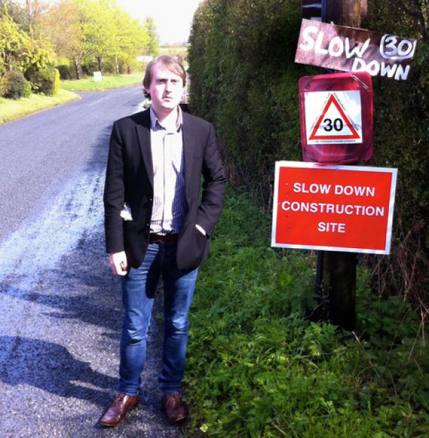 CAMPAIGN: Mickleton councillor Danny Loveridge backs moves to reduce the speed limit in built-up areas.