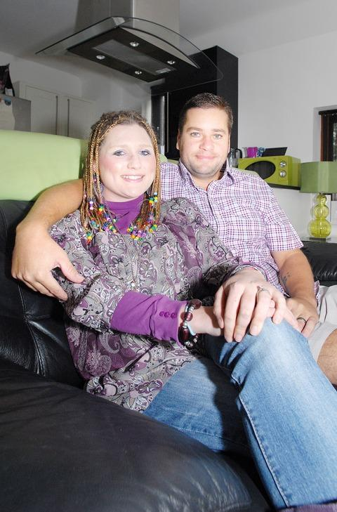 MIRACULOUS RECOVERY: Stefanie Mace-Gould with her new husband Anthony, who she has married 11 years after the road accident that doctors feared would leave her unable to walk, talk or feed herself.