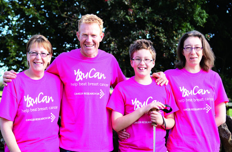 FUND-RAISERS: Adam Henson with Joss Bliss, her daughter Kim Pulman and grandson Jack