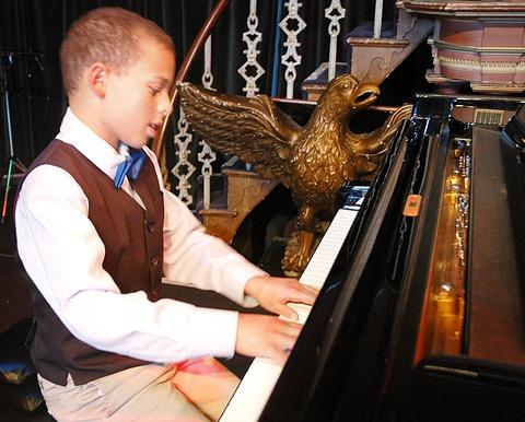 Jude Wynter achieved a grade 8 distinction in piano and a black belt in tae kwon do in the same week
