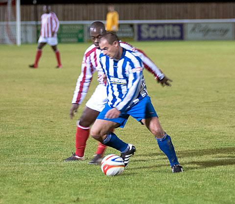 CHARITY: Growers United take the lead during the match.