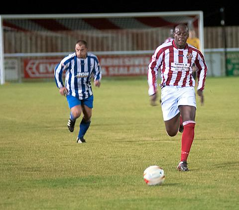 Agricultural workers went head-to-head with an Evesham United team to raise money for charity.