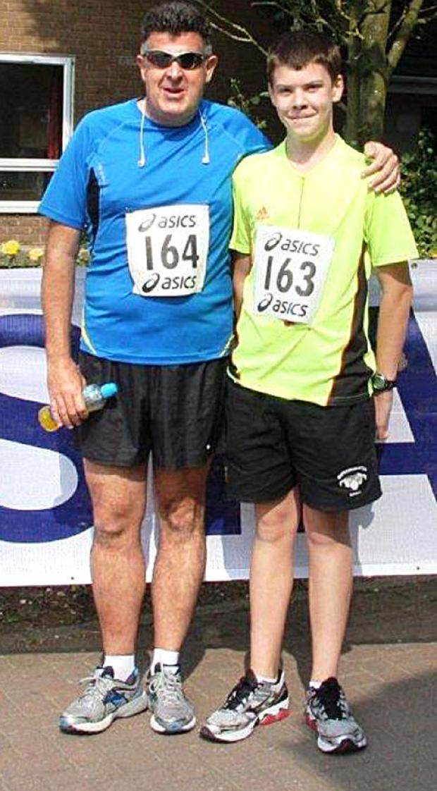 Cotswold Journal: ALL SET: Nick Sandars and his son Ed are ready to run.