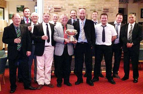 WE ARE THE CHAMPIONS: Evesham's Worcestershire Handicap League-winning team celebrate.