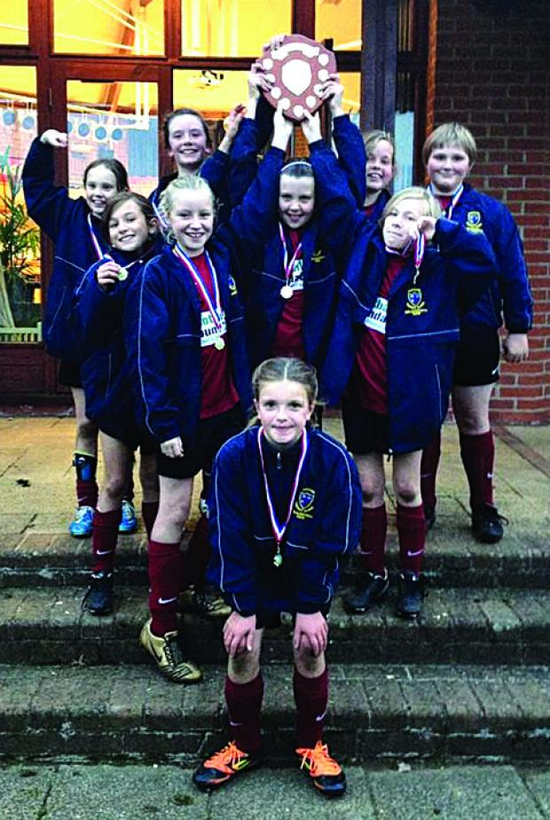 SHOOT OUT SUCCESS: Shipston-on-Stour Primary School girls' team.