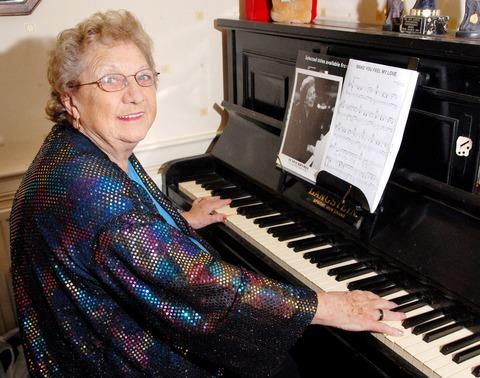 TINKLING THE IVORIES: Eunice Rhymes has got a slot on local radio.