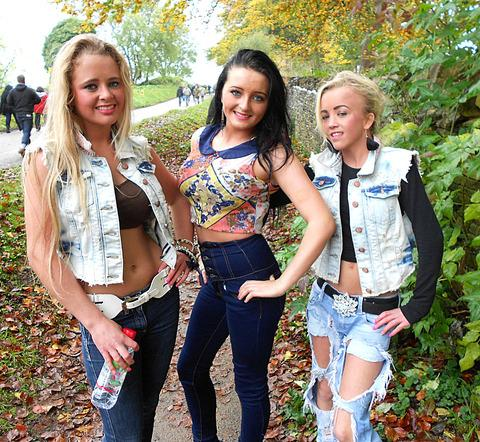 FASHION: Marie Connors, Bridie Teelan and Margaret Connors, all from Gloucester, pulled out all the stops for the fair.