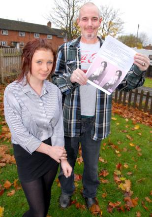 FINALIST: Kiera Lewis, aged 13, who is through to the last heat of Miss Teen Queen UK competition. Her proud dad Andy Lewis is holding a poster encouraging people to vote for her. 45170601