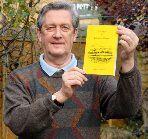BOOK: Hugh O'Connell with A Feast of Cotswold Poems. Picture: Paul Jackson. 45170301