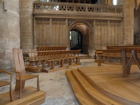The new choir stalls at the Cathedral