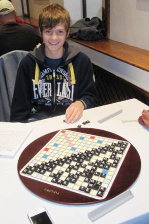 WORD POWER: Young Scrabble enthusiast Josh Irvine