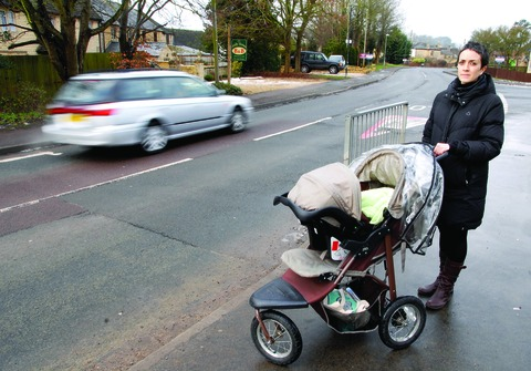 CAMPAIGN: Ginie Moss, who led calls for a pedestrian crossing in Station Road, Bourton.