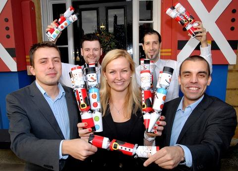 PULL THE OTHER ONE: The Cotswold House Hotel at Chipping Campden has donated 1,000 crackers to four charities.