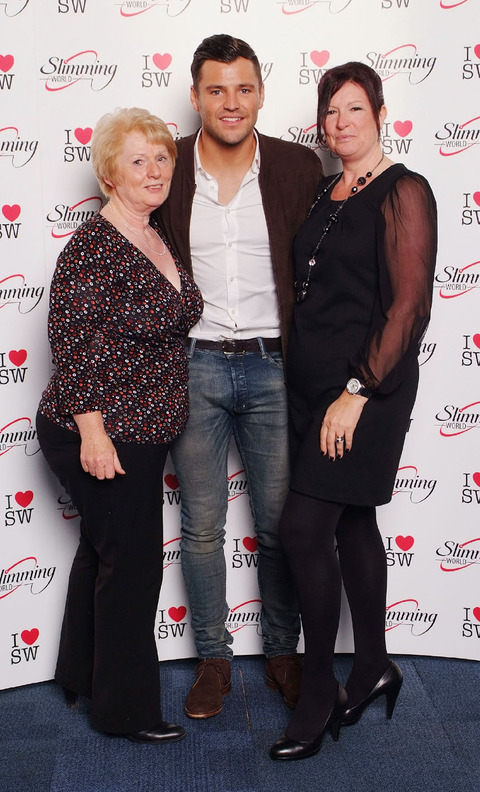 WRIGHT STUFF: Christine Dudfield, left, and Mandy Widdows with TV star Mark Wright at the awards ceremony