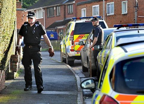 Cotswold Journal: MURDER INQUIRY: Police at the scene of the killing in Teme Road, Worcester