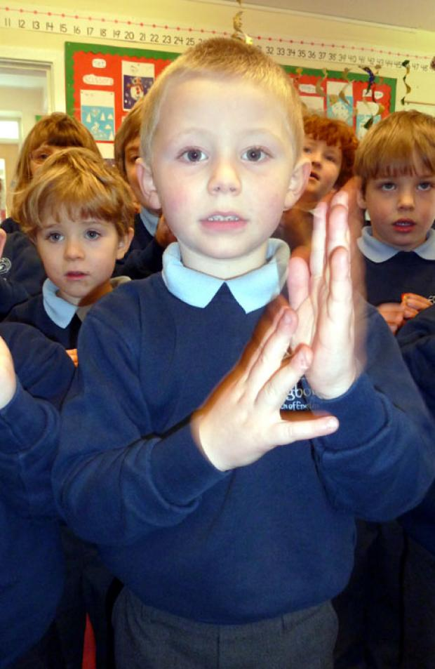 Sign2sing: James Driver aged 4, Longborough Primary School pupil