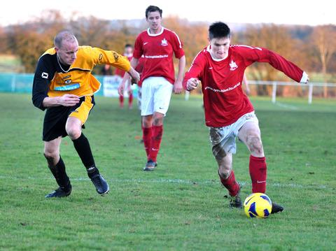 ON TARGET: Littleton's Joe Lolley scored in his side's 3-1 win over Bromsgrove Sporting in the Athium Midland Combination Premier Division. Picture: MICHAEL PITTS