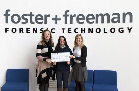 Staff donate £3,630 to three good causes