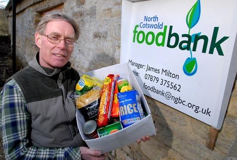 SUPPLIES: North Cotswold Food Bank manager James Milton outside the new premises in Guiting Power.