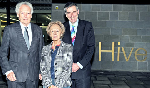 MY LIFE: Mr and Mrs Duckworth and University of Worcester vice-chancellor David Green.