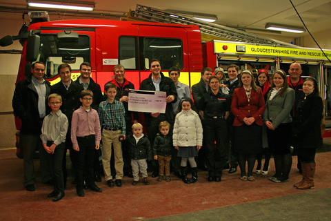Plymouth Brethren raise cash for Stow firefighters