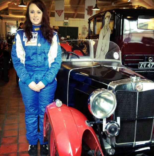 RIDE IN STYLE: Racing driver Zoe Wenham from Kemerton gets ready for a more leisurely drive in this 1932 MG M-typle Midget.