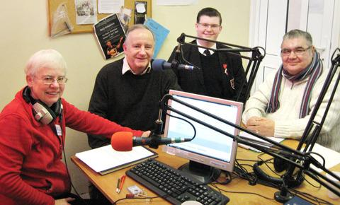 ON AIR: Barbara Herod, Tewkesbury MP Laurence Robertson, Oli Dean and Jim Hart.