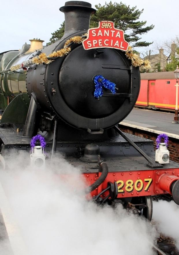 Santa specials are a popular event on the railway