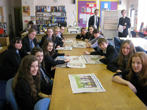 MAKING THE NEWS: Prince Henry's pupils in action during their Newsday project.