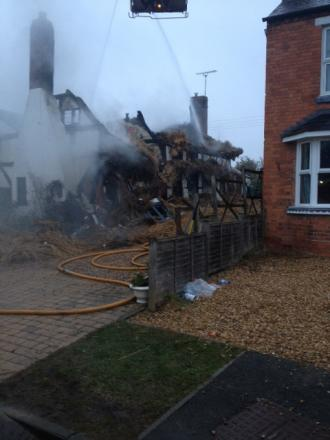 Fire destroys part of thatched cottage in Welford