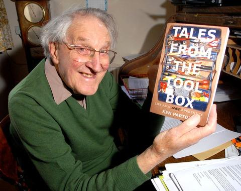 FIRST BOOK: Ken Parton with Tales from the Tool Box. Picture by Paul Jackson. 1613293601