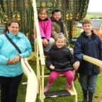 FAMILY HOME: Enjoying the sights and sounds of Stow Fair are Susan Biggs, left, with Abigail Biggs, aged seven, Jonny Biggs, five, Leona Smith, five, and Tom Smith, 13.