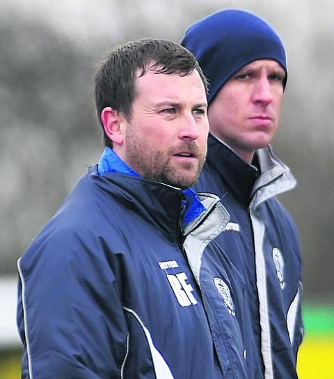 BACKING: Melksham Town boss Richard Fey