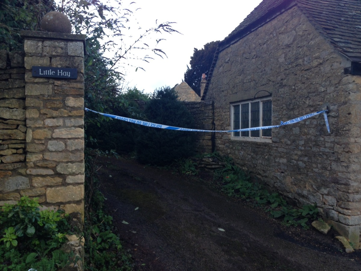 Police sealed off Mr Thompson's cottage in