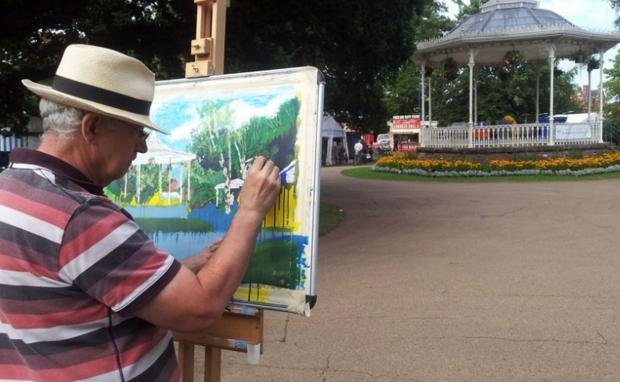 Get arty with a painting demonstration