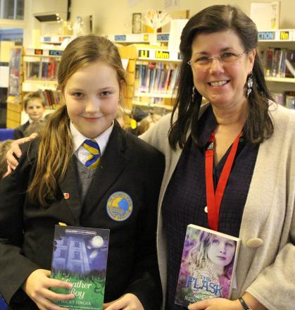 STARSTRUCK: Alex Hope meets award-winning author Nicky Singer.