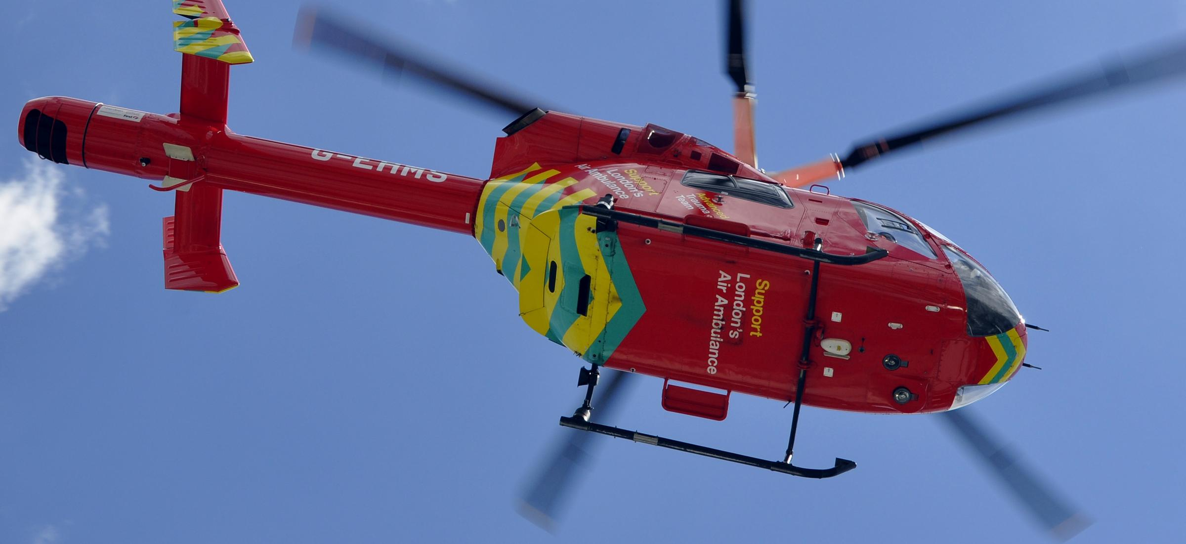 Horse rider airlifted to hospital