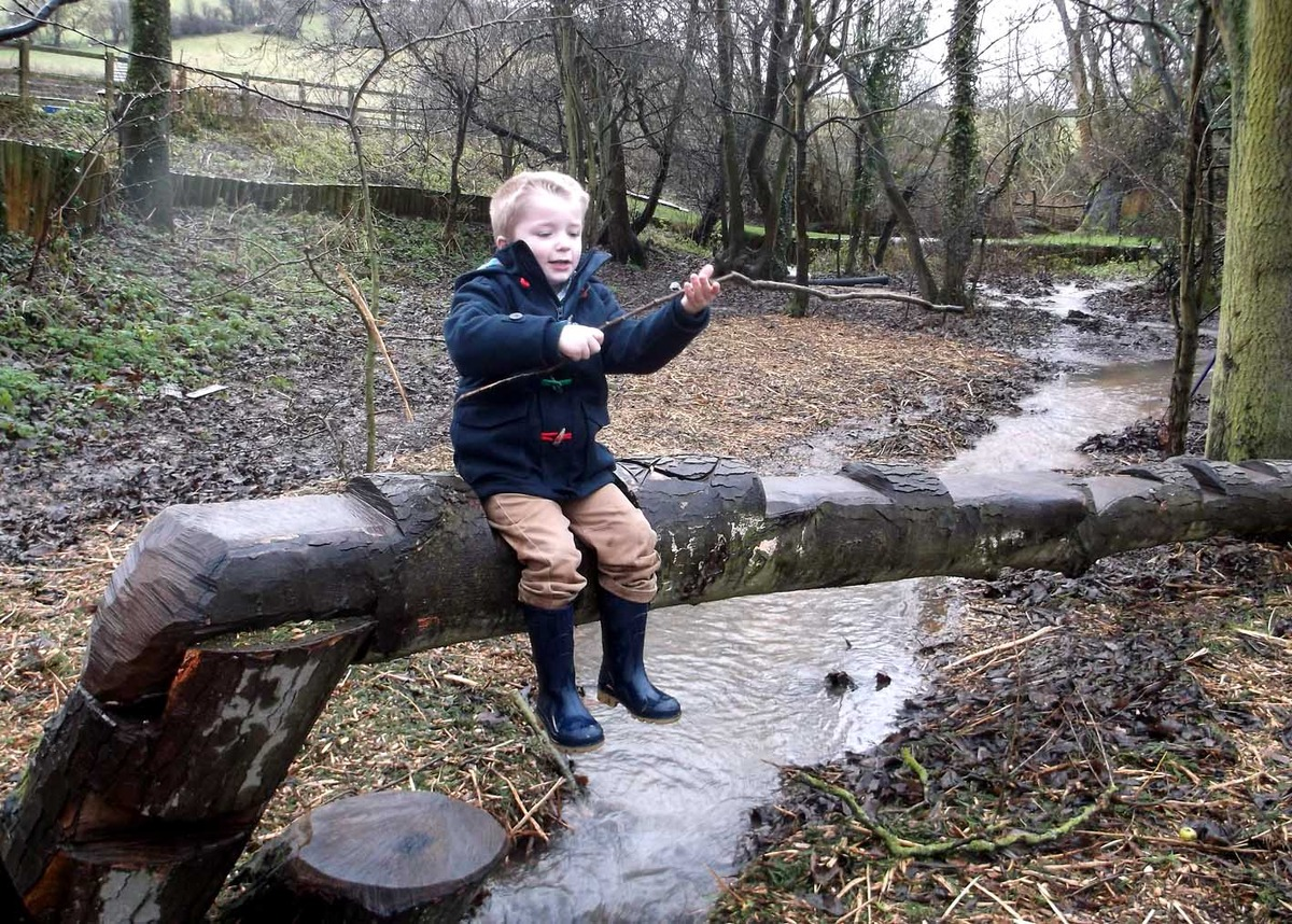 This chap from Winchcombe Farm Day Nursery looks cheerful enough with the wet and windy weather – despite the sinking of a pirate play ship at the site.