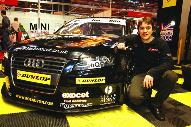 ON SHOW: Rob Austin with his Audi A4 at Autosport International at Birmingham's NEC. Picture: DARREN PRICE