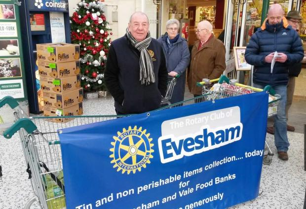 DONATIONS: The Rotary Club of Evesham at Morrisons supermarket.