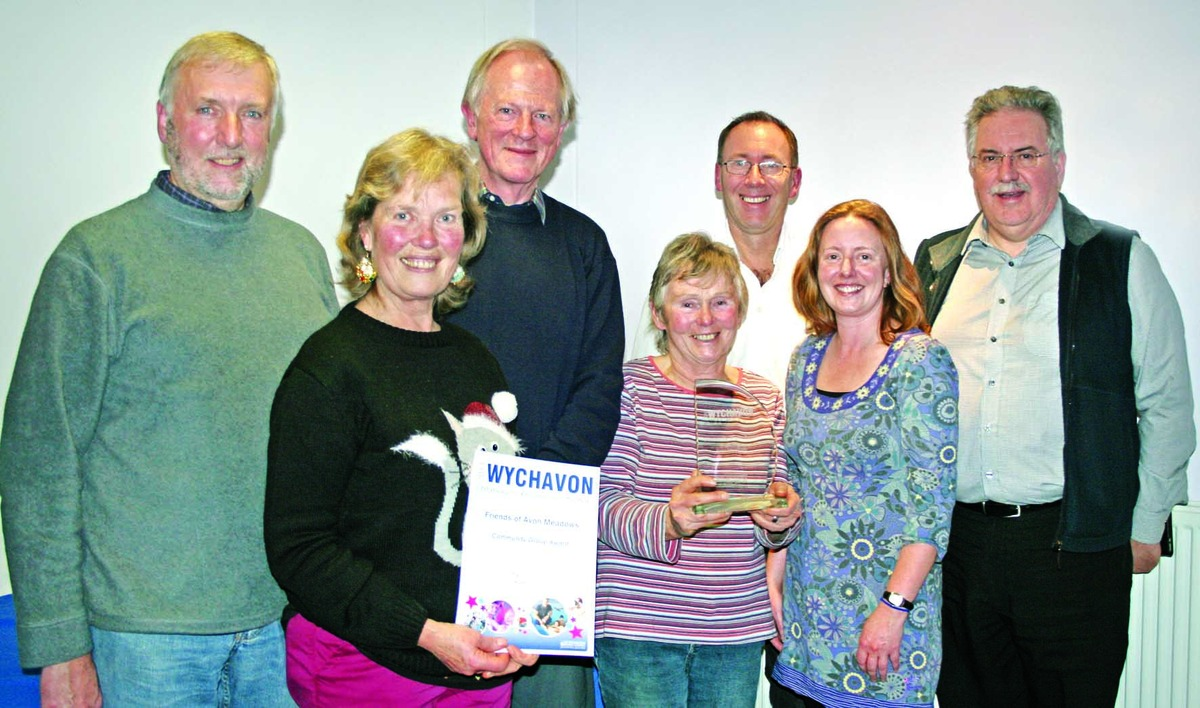 THANKS: The Friends of Avon Meadows were among the recipients of Wychavon community awards.
