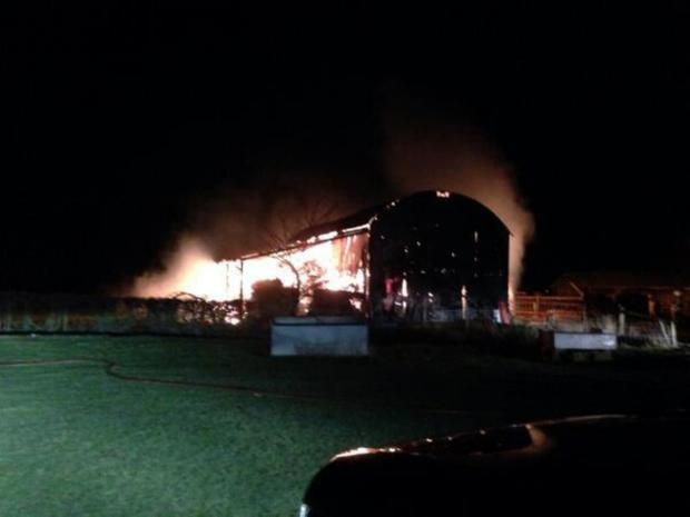BARN FIRE: Picture taken by Martin Gilder.